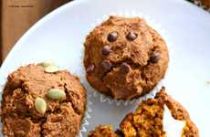 Vegan Pumpkin Muffins - These Healthy Fall Muffins are Sweetened with a Cream Cheese Centre