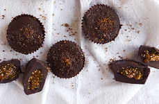 Pumpkin Butter Desserts - These Dark Chocolate Cups are Stuffed With a Seasonal Pie-Like Filling