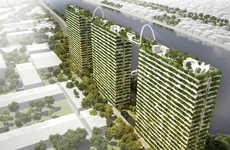 Bamboo-Made Skyscrapers - This Trio of Sustainable Towers Will Be Connected By Bridges