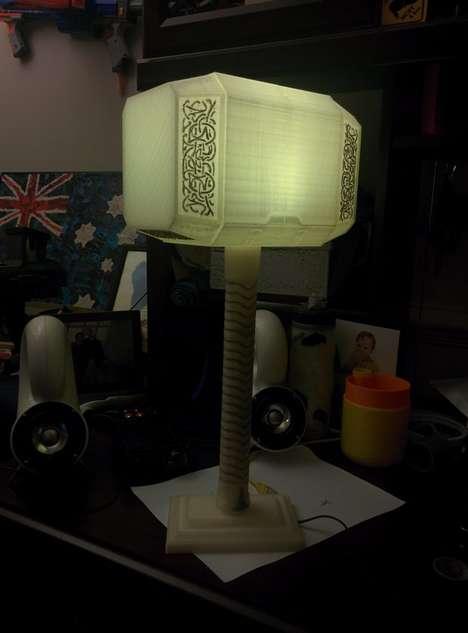 3D-Printed Superhero Lamps