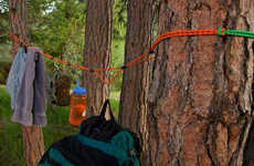 Portable Laundry Lines - This Device Allows Users to Keep Things Off the Ground While Camping