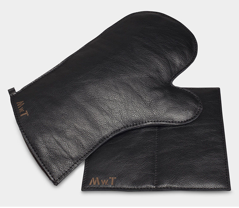 Animal Skin Oven Mitts Leather Oven Mitt And Pot Holder Set