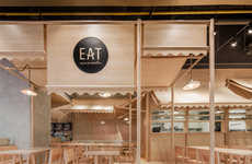 Monochromatic Eatery Interiors - The Eat Rice & Noodle Restaurant Uses One Color for Decoration