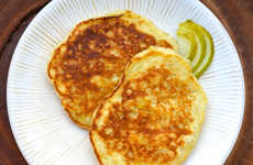 Boozy Pear Pancakes - These Festive Fall Breakfast Cakes are Infused with Rum and Pear Slices