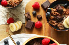Chocolatey Breakfast Bowls - This Hearty Breakfast Dish is Made from Vegan-Friendly Ingredients