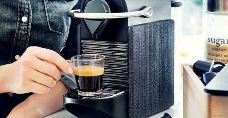 Gilded Coffee Pod Brewers - This 24 Carat Gold Nespresso Machine Brews Arabic Coffee Capsules