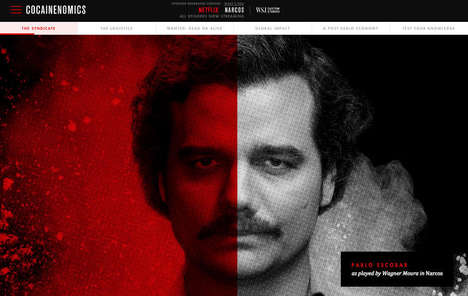 Fact-Based TV Show Advertorials - Netflix and the Wall Street Journal Team up to Promote 'Narcos'