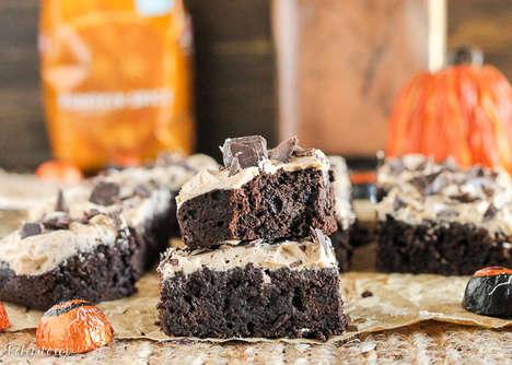 Autumnal Pumpkin Brownies