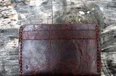 Beef Jerky-Like Wallets - The Dark Chocolate Buffalo Slim Leather Wallet Looks Good Enough to Eat