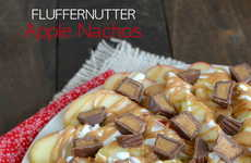 Fluffernutter Apple Nachos - This Shareable Dessert Recipe is a Sweeter Variation on Classic Nachos