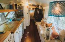 House-Bus Cabins - This Couple Created a Vacation Home by Refurbishing a School Bus