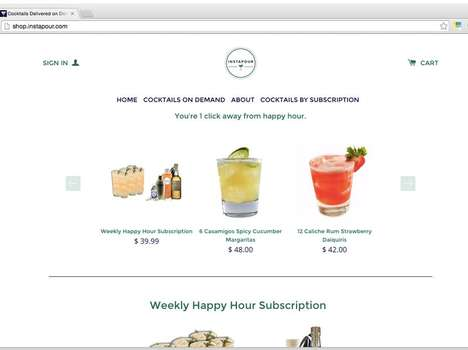 'Instapour' Delivers Ready-to-Pour Cocktails Right to Your Door