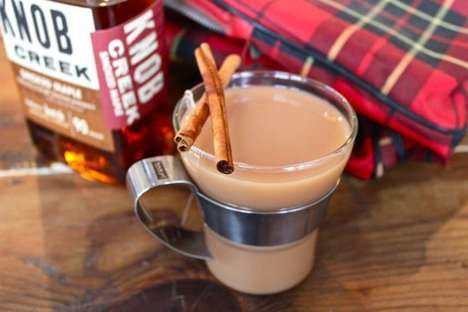 Chai Tea Toddies - This Maple Bourbon Hot Cocktail Recipe is Perfect For Autumnal Camping Trips