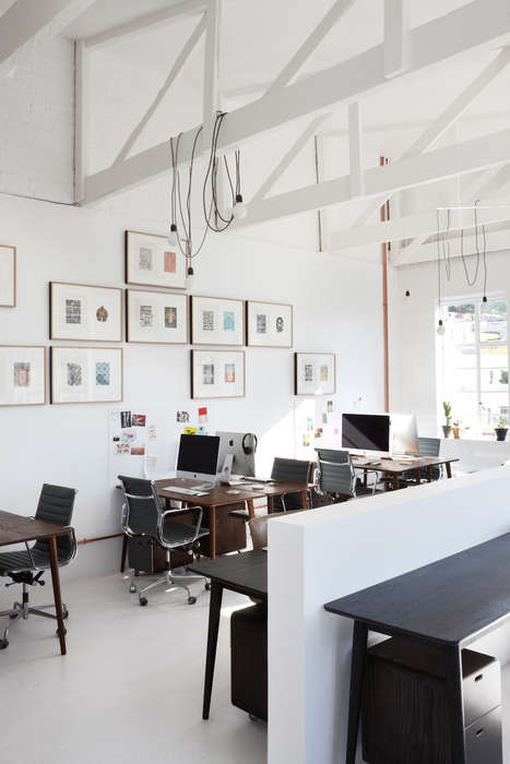 Art Gallery Offices - This Creative Office Space Double as Functional Workplaces
