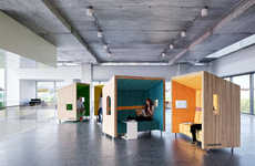 Treehouse Office Pods - Dymitr Malcew Created Sofa-Embedded Alcovesfor Relaxation Within Offices