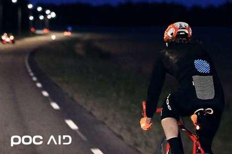 Printed Cyclist Lights