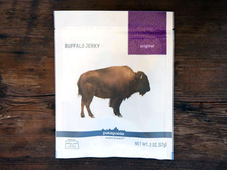 Healthy Buffalo Jerky - Patagonia's Buffalo Meat Snack is Ideal for Taking on Long Trips