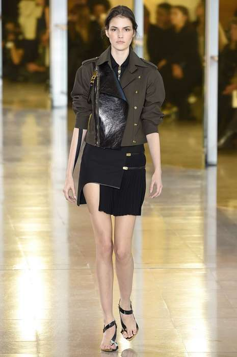 Sultry Military Fashion - The Anthony Vaccarello Spring Line Brought Sexy Militant Apparel to Milan
