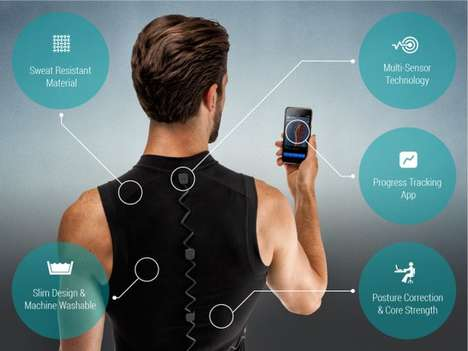 Smart Posture-Correcting Shirts - The TruPosture System Senses Bad Posture and Provides Analytics