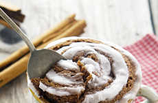 Paleo Cinnamon Bun Cakes - This Delicious Cinnamon Roll is Made Conveniently in a Mug