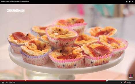 Savory Pizza Cupcakes