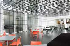 Illusory Grid Cafes - This Art Installation by Johnston Marklee is Placed in an Art Museum's Cafe