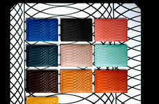 Technicolor Leather Clutches - Paul Smith's No. 9 Leather Goods Line Features Modular Embossing