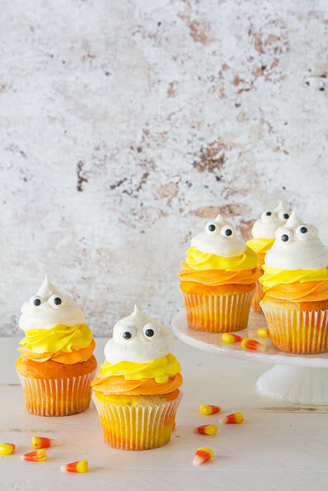 Ghoulish Candy Cupcakes