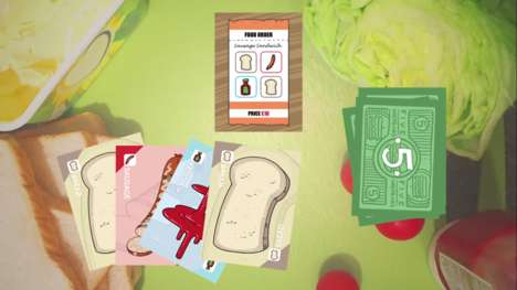 Sandwich-Building Card Games