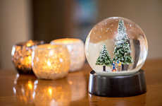 Personalized Diamond Ornaments - This Christmas Snow Globe Uses Real Jewels and a 3D Family Portrait