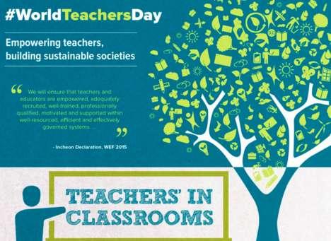Celebratory Teacher Infographics