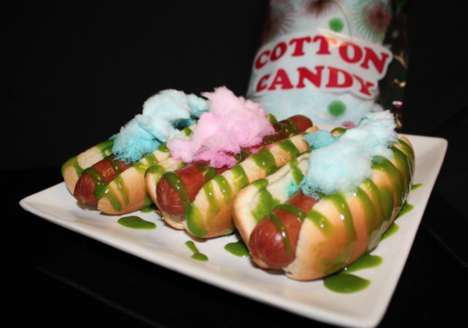 Cotton Candy Hot Dogs