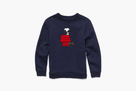 Cartoon-Invaded Fashion Logos - This Snoopy Peanuts x Lacoste Apparel is a Whimsical Collaboration