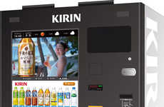 Selfie Vending Machines - This Japanese Beverage Dispenser Offers a Complimentary Portrait