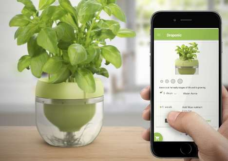 Smart Indoor Herb Gardens - This Pot and Plant App System Makes It Easy to Grow Food Without a Yard