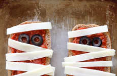 Mummified Pizza Toasts - These Gourmet French Breads Use Cheese and Olives to Look Like a Mummy