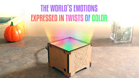 Emotion-Powered Lamps - 'MoodLight' Emits Twirls of Color Based on the Emotions of the World