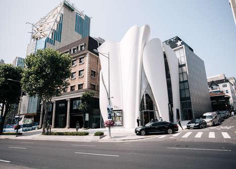 Garment-Like Sculptural Shops