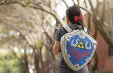 Retro Gamer Knapsacks - The Nintendo Link's Shield Backpack is Ideal for Legend of Zelda Fans