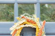 Festive Floral Wreaths - These Homemade Fall Door Decorations Create an Inviting Home Atmosphere