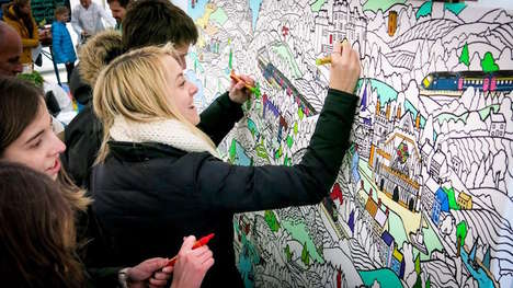 Canvas Coloring Parties - The 'Fancy Feature' Coloring Canvases Bring Adults & Children Together