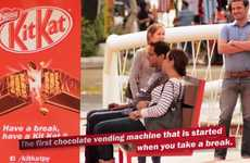 Candy-Dispensing Public Benches - The Kit Kat Bench Rewarded Those Who Rested for 60-seconds
