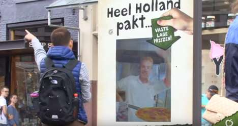 Live Streaming Pizza Screens - This Interactive Billboard Was Connected to a Restaurant's Kitchen