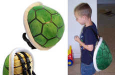 Plush Video Game Backpacks - This Koopa Shell Knapsack is a Wearable Super Mario Brothers Replica