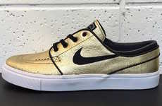 Metallic Gold Sneakers