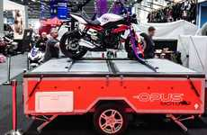 Motorbike-Hauling Trailers - The Opus Moto Folding Camper Lets You Take Your Motorbike With You