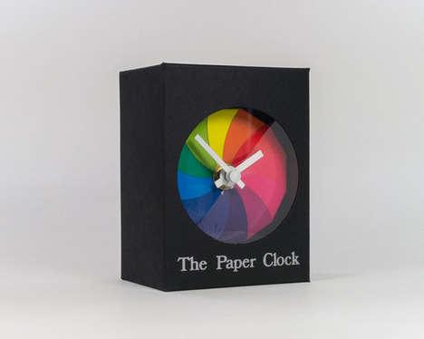 Minimalist Multicolored Clocks