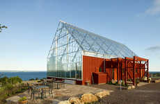 Glass Greenhouse Barns