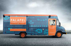 Mobile Falafel Carts - This Vibrant Food Truck Specializes in Mediterranean Cuisine