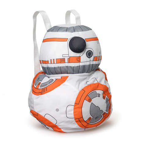 Sci-Fi Droid Knapsacks - The BB-8 Back Buddy Backpack is Ready for an Adventure or Heading to Class